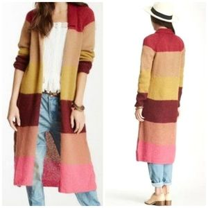 FREE PEOPLE Mohair blend Over the rainbow duster